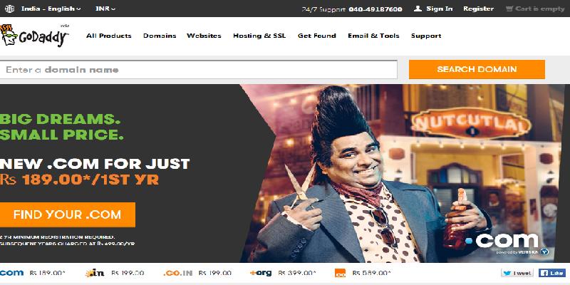 Godaddy cheap domain reseller company on mirchi blogger