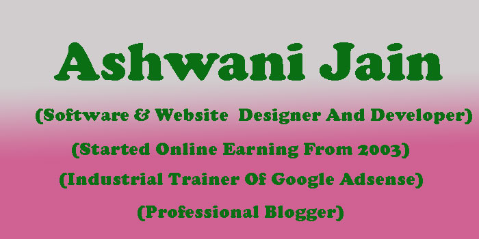 Ashwani Jain Partner At Mirchi Blogger