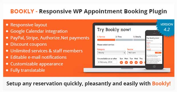 Bookly responsive WP Appointment Booking Plugin