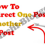 how to redirect one blogger post to another post