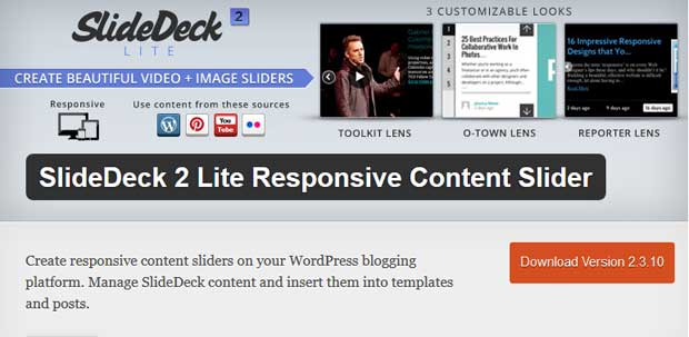Slidedeck WordPress Plugin